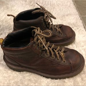 Vintage Dr. Martens Brown Leather Hiking Boots